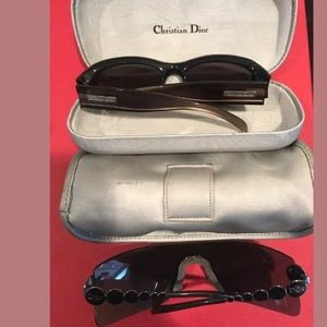 Christian Dior sunglasses 2 pairs as is